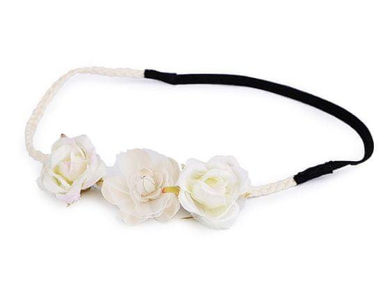 Kraftika 1ks Pružná Čelenka Do Vlasů S Květy Květinové Ozdoby Bižuterie