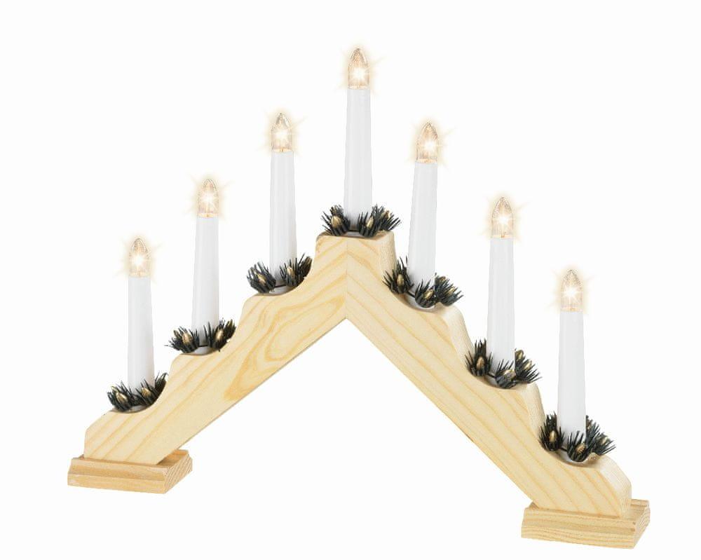 Kaemingk Svícen do okna - světlé dřevo - zánovní