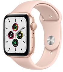 Apple Watch SE , 44mm Gold Aluminium Case with Pink Sand Sport Band (MYDR2HC/A)
