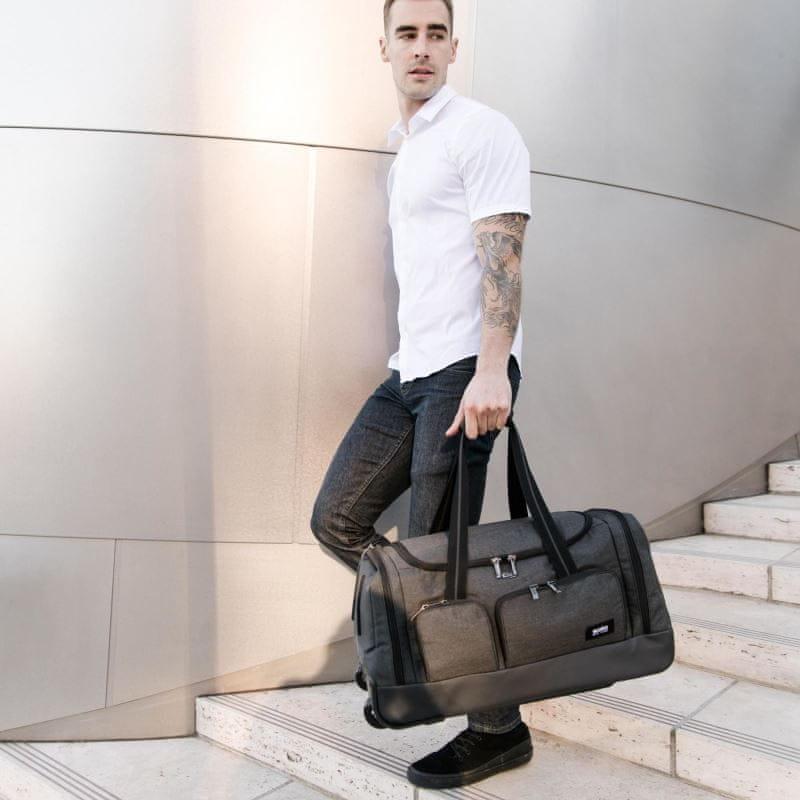SOLO NY Leroy cestovní taška na kolečkách UBN980-10, šedá