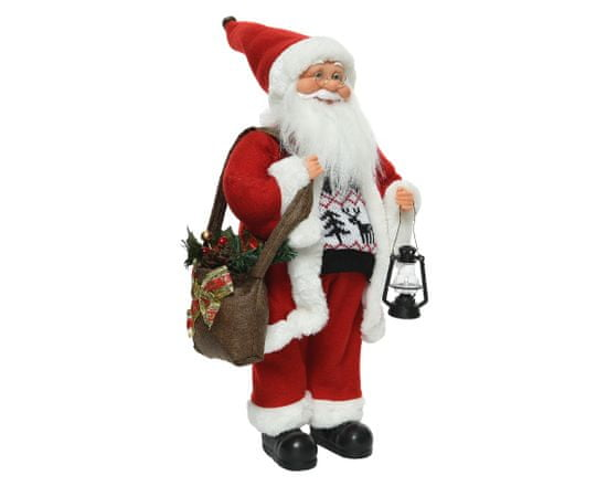 Kaemingk dekoracija Djed božićnjak, crvena, 45 cm
