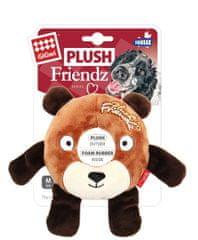 GiGwi Hračka pre psov Plush Friendz medveď s gum. krúžkom