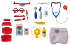 Teddies Sada doktor/lekár plast v plastovom kufríku