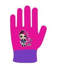 """Eplusm Dekliške prstne rokavice """"LOL"""" - vijolična"""