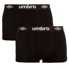 Umbro 2PACK pánské boxerky černé (UMUM0241F) - velikost M