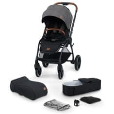 KinderKraft Evolution Cocoon 2v1 otroški voziček, platinum grey 2020