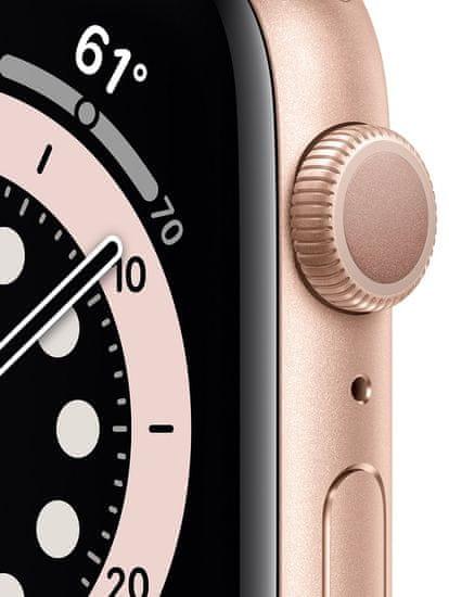 Apple Watch Series 6, 44mm Gold Aluminium Case with Pink Sand Sport Band (M00E3HC/A)