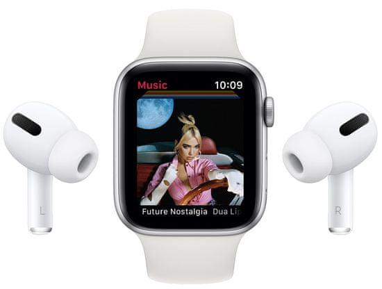 Apple Watch Series 6 pametna ura, 44 mm, vesoljsko sivo aluminijasto ohišje s črnim športnim paščkom