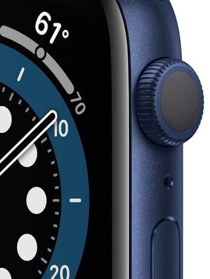 Apple Watch Series 6, 44mm Blue Aluminium Case with Deep Navy Sport Band (M00J3HC/A)