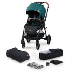 KinderKraft Evolution Cocoon 2v1 otroški voziček, platinum green 2020