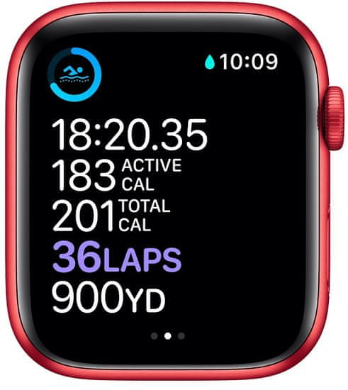 Apple Watch Series 6, 44mm PRODUCT(RED) Aluminium Case with PRODUCT(RED) Sport Band (M00M3HC/A)