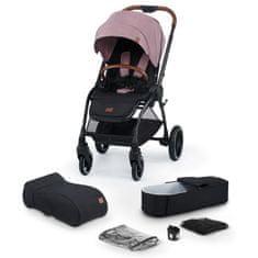 KinderKraft Evolution Cocoon 2v1 otroški voziček, mauvelous pink 2020