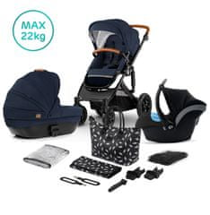 KinderKraft PRIME 2020 with car seat and accessoriess 3in1 deep navy + mommy bag