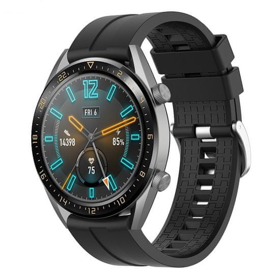BStrap Huawei Watch GT 42mm Silicone Cube pašček, Black