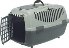 Trixie Be Eco Capri transportna škatla, siva/zelena, XS-S 37 x 34 x 55 cm