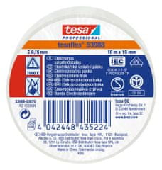 Tesa PVC elektroizolačná páska (IEC 60454-3-1), biela, 10m x 15mm