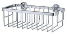 Tesa Odkladací košík tesa® Aluxx, chrómovaný hliník svysokým leskom, samolepiaci, 92 mm x 250 mm x 125 mm