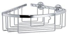 Tesa Rohový košík do sprchy tesa® Aluxx, chrómovaný hliník svysokým leskom, samolepiaci, 92 mm x 192 mm x 200 mm