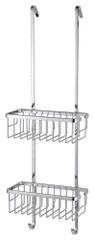 Tesa Závesný odkladací košík tesa® Aluxx, chrómovaný hliník svysokým leskom, háčiky na zavesenie, 750 mm x 250 mm x 163 mm