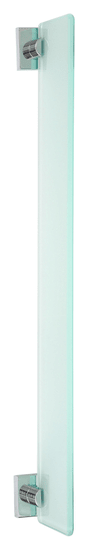 Tesa Sklenená polička tesa® Ekkro, chrómovaný kov svysokým leskom, samolepiaca, 50 mm x 600 mm x 120 mm