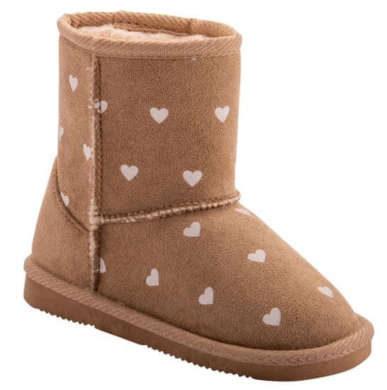 Coqui buty dziewczęce Lt. Brown Hearts 172/173-906-9300