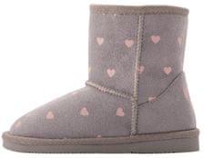 Coqui dekliški škornji Grey Hearts 172-906-9900, 26, sivi