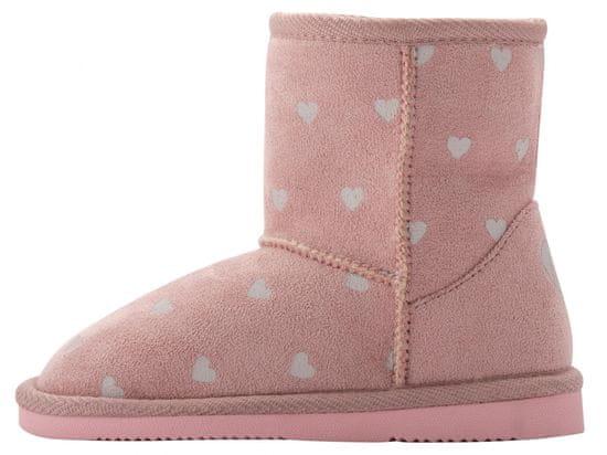 Coqui dekliški škornji Powder Pink Hearts 172/173-906-6200