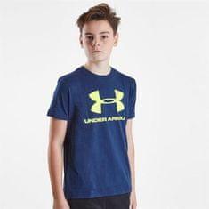 Under Armour športna majica z logom, otroška, XS, modra