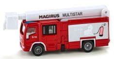 SIKU Super 174 Magirus Multistar gasilci s teleskopsko košaro