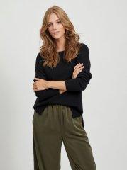 VILA Črni pulover Ril - S