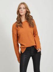 VILA Oranžni pulover Ril - M
