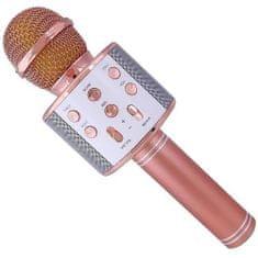 Alum online Bezdrátový karaoke mikrofon WS-858 - Rose Gold