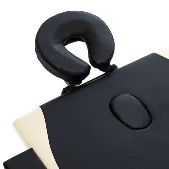 shumee négyzónás fekete és bézs összecsukható fa masszázsasztal