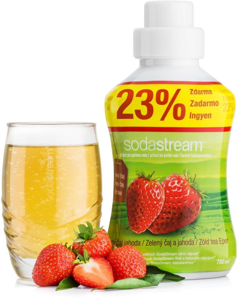 SodaStream Příchuť 750ml Zelený čaj jahoda