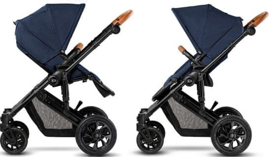 KinderKraft PRIME 2020 with car seat and accessoriess 2in1 deep navy + mommy bag