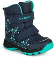 Loap buty zimowe dziecięce Nika 22 niebieskie