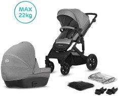 KinderKraft Prime Lite 2in1 2020 otroški voziček, siv