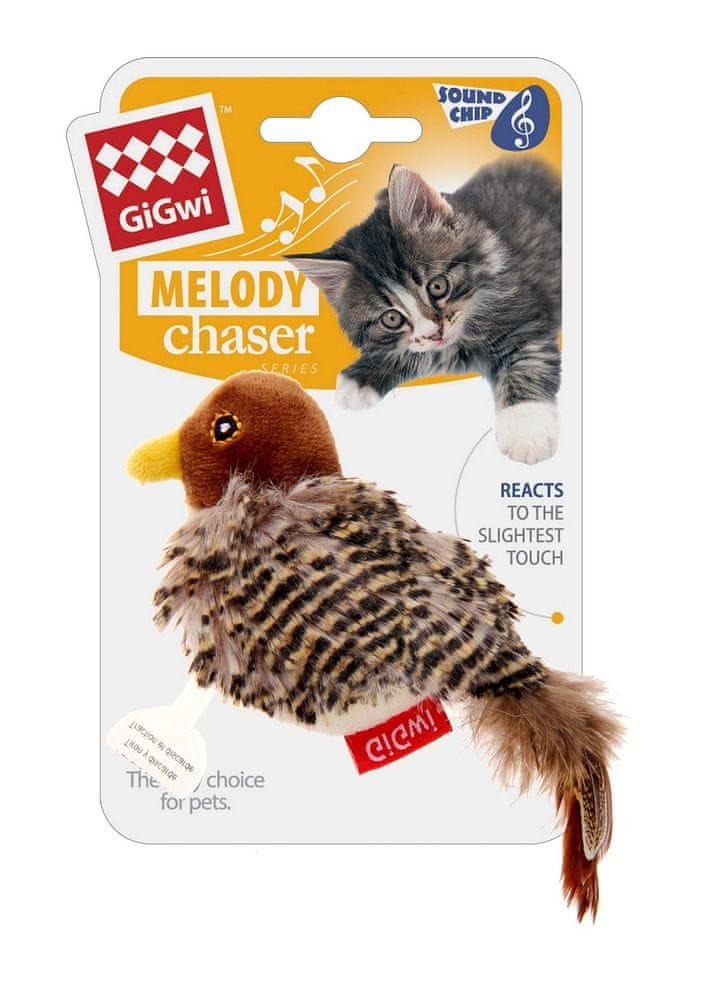 GiGwi hračka pro kočky Melody Chaser ptáček se zvukovým čipem