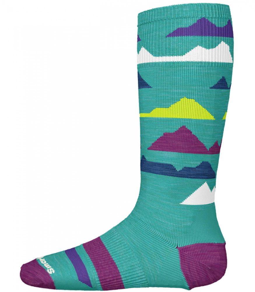 SmartWool dětské ponožky K Wintersport Mountain capri M zelená