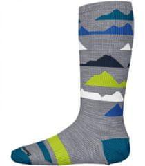 SmartWool K Wintersport Mountain light gray otroške nogavice, sive, L