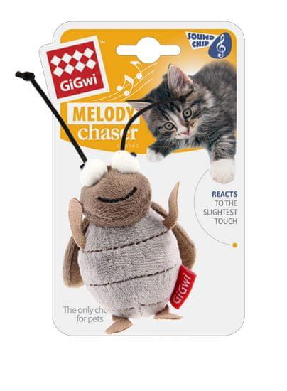 GiGwi Hračka pre mačky Melody Chaser cvrček s