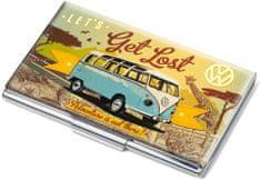Troika #CDC10-A601 LET'S GET LOST Ploché puzdro na 11 vizitiek, viacfarebné, motív VW Vintage