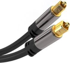 PremiumCord Kabel Toslink M/M, OD:6mm, Gold design 1m, kjtos6-1