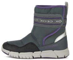 Geox J04APA 0FU50 C1324 Flexyper dekliški zimski čevlji, sivi, 41