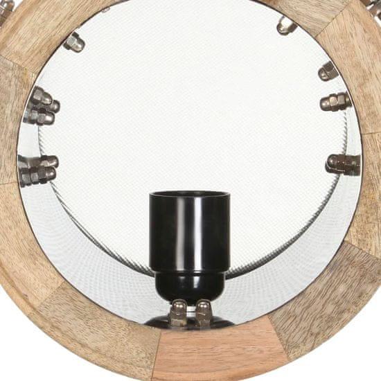 shumee Stojací lampa na stativu masivní mangovníkové dřevo 131 cm