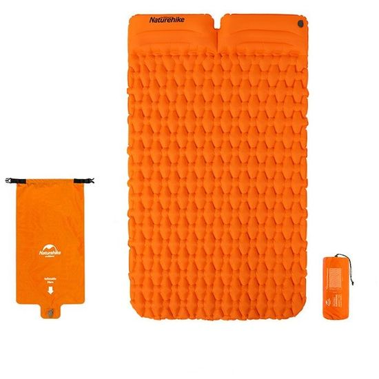 Naturehike nafukovacia dvojitá karimatka FC-13 1000g - oranžová