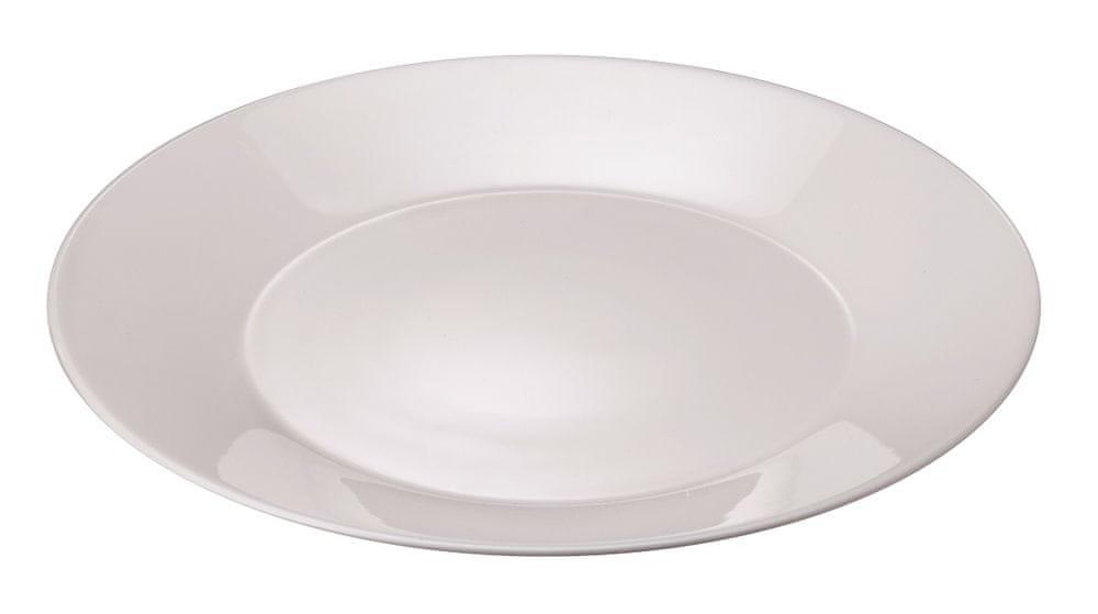 MAISON FORINE set Jessy 6 ks mělkých bílých talířů Ø 26,8 cm, opálové tvrzené sklo