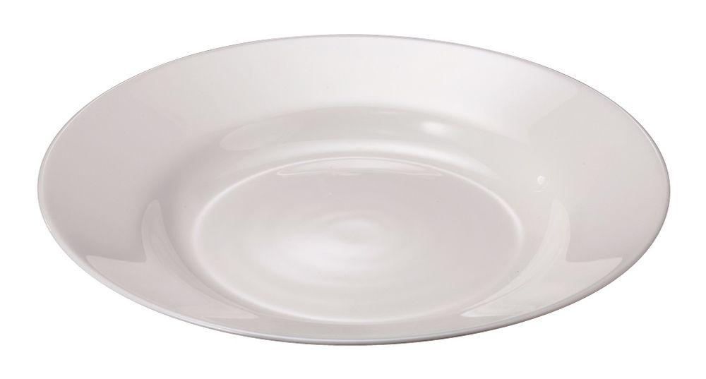 MAISON FORINE set Jessy 6 ks hlubokých bílých talířů Ø 22,8 cm, opálové tvrzené sklo