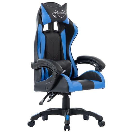 shumee Fotel dla gracza, niebieski, sztuczna skóra