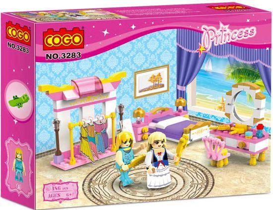 Cogo Princess stavebnice Ložnice princezny typ LEGO 186 dílů